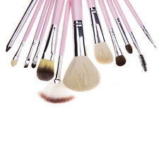 12X Professional Soft Cosmetic Makeup Brush Set Flower Pouch Bag Case Lip Brush
