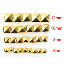 100 Pyramid Studs Rivet Nailhead Spike Square Leather Craft DIY Rock Punk Tool