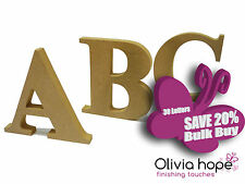 30 Freestanding Wooden Letters MDF