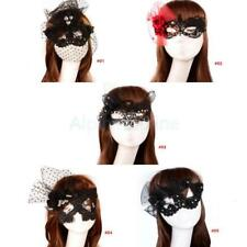 Sexy Floral Lace Eye Mask Lady Masquerade Party Fancy Dress Costume Party Black
