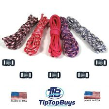 Paracord Hero 550lb TypeIII Paracord GirlCandy Combo DIY Crafting Kit w/5 Buckle