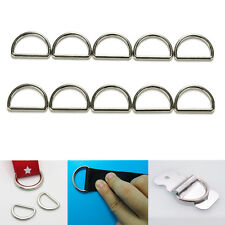 Lots 100/200X Sliver Plated D Ring D-rings Purse Ring Buckles Webbing Strapping