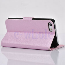 Bling Luxury PU Leather Magnetic Flip Stand Wallet Cover Case For iPhone 5c DT