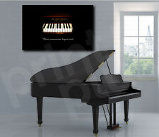 Marshall & Wendell Piano Music Abstract Canvas Art Poster Print Home Wall Decor