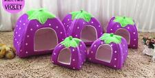 Soft Bed House Warm Doggy Kennel Pad Dog Cat Strawberry Pet Cushion Puppy