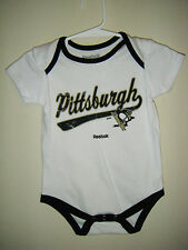 NHL Pittsburgh PENS Penguins Infant Youth Size 12 Months Body Snap Suit White