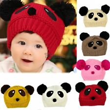 Cute Baby Girl Boy Toddler Winter Warm Knit Crochet Panda Hat Cap Beanie WT88