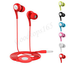 Universal 3.5mm In-Ear Stereo Earbuds Earphone With Mic For iPhone For Samsung
