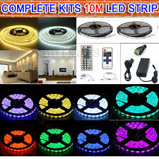 10M 33ft 600 LED SMD 3528/5050/5630 RGB/White Flexible Strip Light+Remote+Power