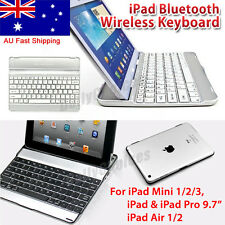 Aluminum Bluetooth Wireless Keyboard Cover Case For iPad mini 1 2 3