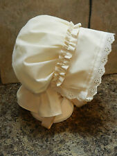 Girls/ladies Victorian, edwardian style  bonnet, scrooge, Les Mis, Oliver twist