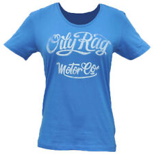 Oily Rag Clothing Motorcycle Casual Ladies Scooped Neck Motor Co T-Shirt - Blue