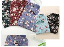 New Blouse Turn Down Blouses Collar Long Sleeve Shirt Tops Blouses Floral