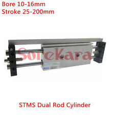 STMS Dual Rod Cylinder Bore 10-16mm Stroke 25-200mm Air Cylinder AIRTAC Type