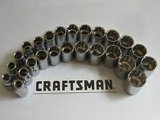 Craftsman Socket Sets SAE or Metric Choose Your Size 1/4 3/8 1/2 6 8 12 Point