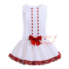 Kids Baby Girl Princess Dress Birthday Wedding Party Pageant Christening Recital