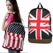 Book Campus Backpack Flag Print Bag Shoulder Unisex Bags Canvas Schoolbag WT88