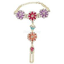 Ladies Fashion Foot Jewelry Accessory Exquisite Diamond Flower Beach Anklets