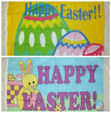HAPPY EASTER 5x3 Flag Bunny Party Celebration School Home Business Trade egg bn