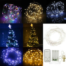 Warm / Cool White / RGB 2M/3M/10M LED Copper Wire LED String Fairy Lights Lamp