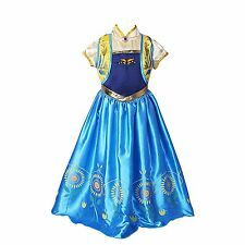 Girls Disney Elsa Frozen Dress Costume Princess Anna Party Pageant Fancy Dresses