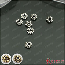 100PCS 6MM Zinc Alloy Snowflake Spacer Beads Jewelry Findings Accessories 26978