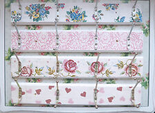 Vintage Shabby Chic Floral Cath Kidston Emma Bridgewater Wooden Coat Wall Hooks