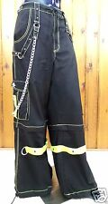 Tripp NYC Pants Shorts Lime Black L XL 2XL Bondage Chains Gothic Rock AF7246M
