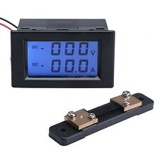 DROK DC Voltmeter/Ammeter 2in1 LCD Digital Display Voltage Ampere Meter DC 0-...