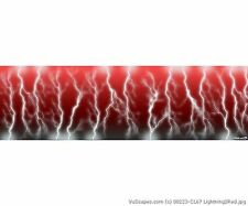 VuScapes Truck Rear Window Graphic - 4 SIZES AVIAL. - LIGHTNING 2 RED