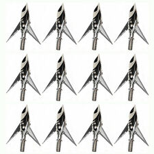 Lot Hunting 3 Fixed Blade Arrow Tip Broadheads Field Points 100 Grain Silver