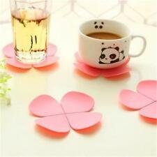 3D Flower Petal Shape Cup Coaster Tea Coffee Cup Mat Table NEW#