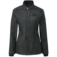 Knox Lea Ladies Wax Motorcycle Motorbike Jacket - Black