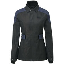 Knox Lea Ladies Wax Motorcycle Motorbike Jacket - Black / Blue