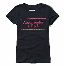 Nwt Abercrombie By Hollister Womens Graphic Slim Fit T Shirt Navy