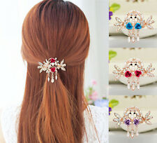 Tops Hairpin Flower NEW Clip Hair Barrette Crystal Rhinestone Hot Women Jewelry