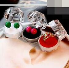 5pcs New Jewelry Pretty Clear Acrylic Crystal Ring Earrings Boxes Gift Cases Box
