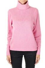 PINKO New Woman Pink Turtle Neck Sweater Jumper Wool Blend Made in Italy