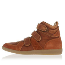 MARTIN MARGIELA MM22 New Man Suede Leather Brown high Sneaker Shoes Made Italy