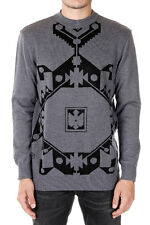 GIVENCHY New Men Grey Round Neck Sweater Jumper Made in France NWT