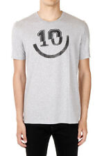 MAISON MARTIN MARGIELA MM10 New Man GREY Cotton Slim fit Prit T-shirt NWT