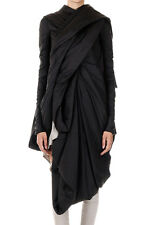 RICK OWENS Women Black Zipped LAKME LS Down Jacket Made in Italy New