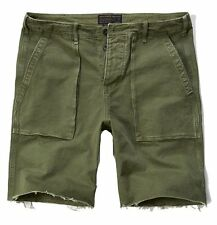 Nwt Abercrombie By Hollister Womens Vintage Utility Shorts Olive