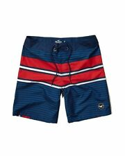 New Hollister By Abercrombie Mens Classic Fit Board Swim Shorts Navy Nwt