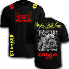 Stryker Shorts Sleeve Shirt Pit  MMA UFC bull Dog BJJ With FREE Tapout Sticker T