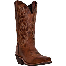 Laredo Mens Rust All Leather Breakout 12in Square Toe Cowboy Boots