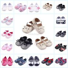 Baby Girls Kids Bowknot Shoes PU Leather Floral Party Shoes Soft Walking Shoes