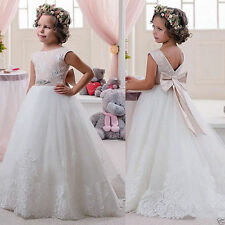 Flower Girl Dress for Wedding Pageant Prom Birthday Communion lovely fluffy 2-14
