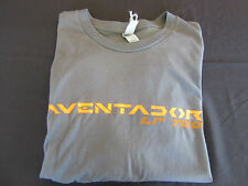 Lamborghini Aventador Gray & Orange Men's T-Shirt Aventador-XL