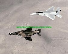 USAF F-4 Phantom II  F-15 Eagle Color Photo Military Aircraft Vet Veteran USA